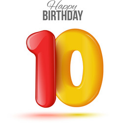 Birthday greeting card with numbers vector