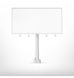 Blank white billboard vector image