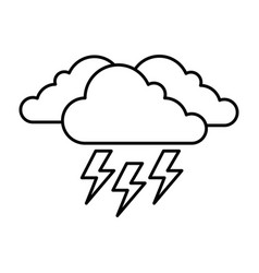 Cloud weather with thunder vector