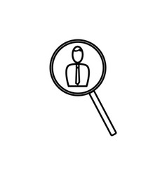employee search icon vector image vector image