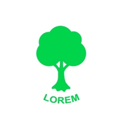 Green tree logo design template plant vector