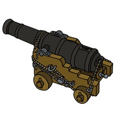 Historic naval cannon vector