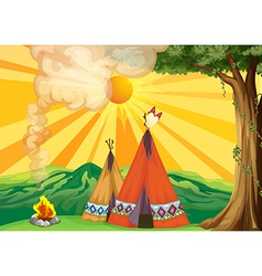 Indian Tipi vector image vector image
