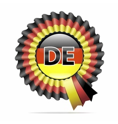 national flag badge DE vector image vector image