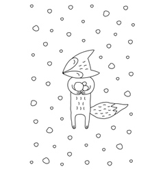 Outline cartoon christmas vector