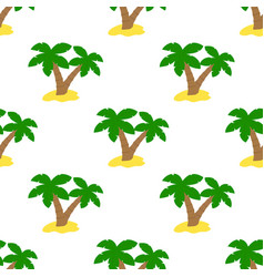 pattern with green palms vector image