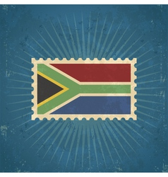 Retro South Africa Flag Postage Stamp vector image vector image