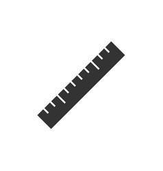 ruler black icon vector image