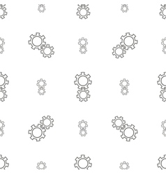 Seamless gears pattern vector