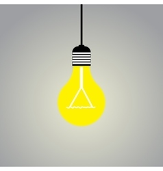 Shining light lamp on gray background vector image