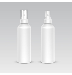 Spray Bottle White Plastic Packaging Container Set vector image vector image