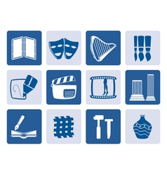 One tone different kind of Arts Icons vector image