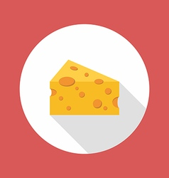 Cheese flat style icon vector image