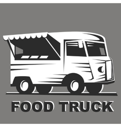 Food truck for emblems vector