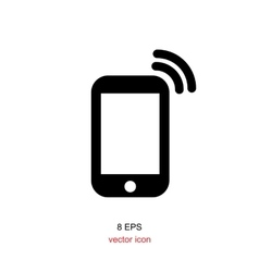 Simple smartphone icon vector