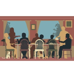 Family dining vector image