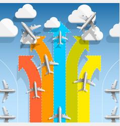 aircraft flights infographics vector image