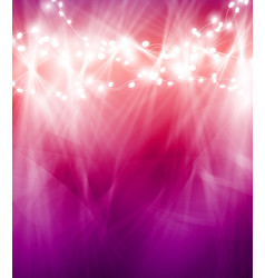 Colourful glowing christmas lights and greeting vector