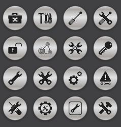 set of 16 editable repair icons includes symbols vector image