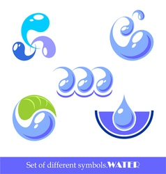 Set of symbols water vector