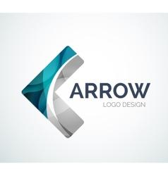 Arrow icon logo design made of color pieces vector image