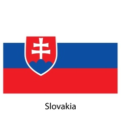 Flag of the country slovakia vector