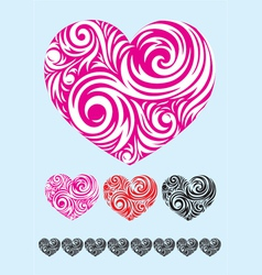 Heart ornate vector image