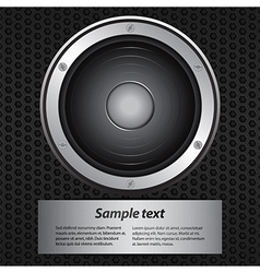 invite with speaker and sample text vector image