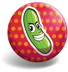 Cucumber badge vector
