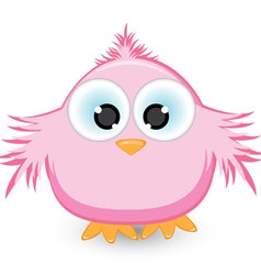 Cartoon pink sparrow vector