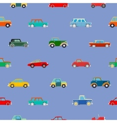 Seamless wallpaper of cars vector