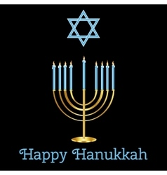 Jewish holiday happy hanukkah card design vector