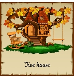 House of ancient woodland vector