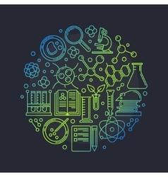 Biotechnology round vector