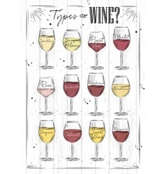 Poster wine wood vector