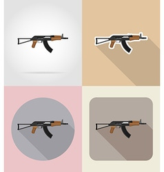 weapon flat icons 01 vector image