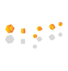 Abstract golden cubes vector