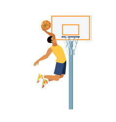 basketball jump vector image