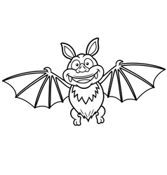 Bat outline vector image vector image