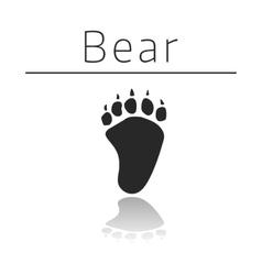 Bear animal track vector image vector image