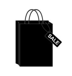 Black shopping bags eps10 vector image