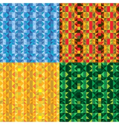 Bright Mosaic Backgrounds Set vector image vector image