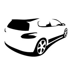 Car modern silhouette vector image vector image