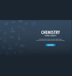 Chemistry subject back to school background vector