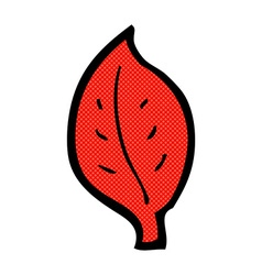 Comic cartoon leaf vector