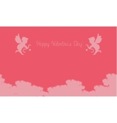 cupid on sky valentine backgrounds vector image