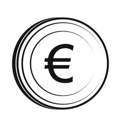 Euro icon simple style vector image