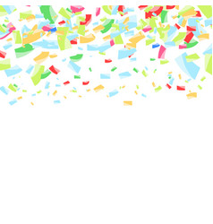 falling bright confetti abstract background vector image