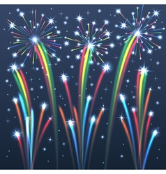 fireworks colorful 2 vector image