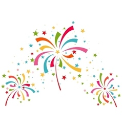 Fireworks different colors vector image vector image